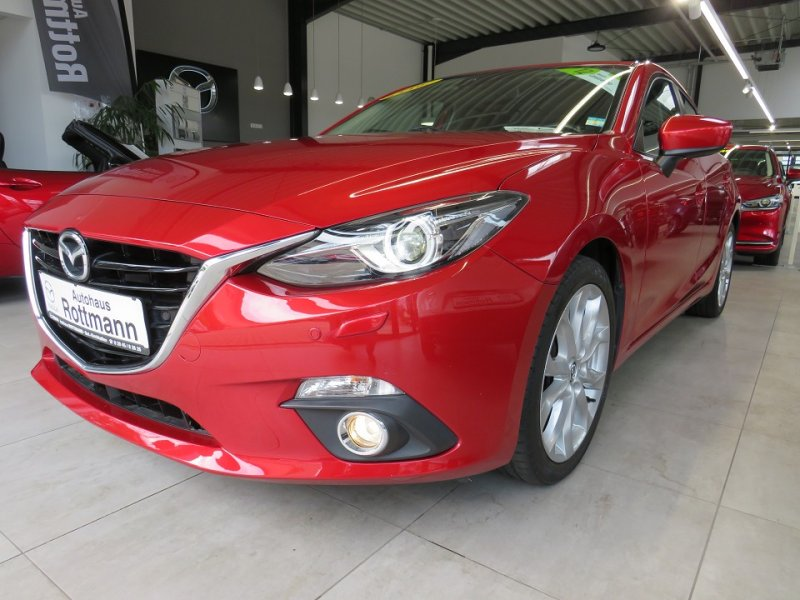 Mazda 3 SKYACTIV-G 120,Sports-Line,Navi,6 Gang,Key-Less-Go,BI-XENON... 6 Gang,AHK,Sports-Line,Key-Less-Go,XENON, Jahr 2015, Benzin