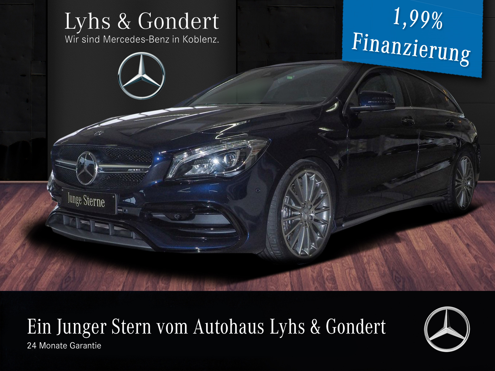 Mercedes-Benz AMG CLA 45 4MATIC Shooting Brake Harman Drivers, Jahr 2018, Benzin