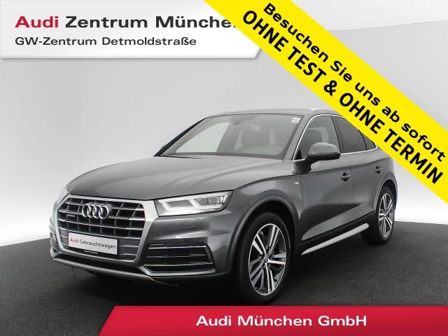 "Audi Q5 2.0 TFSI qu. Sport S line B&O Virtual Matrix Navi Luftfahrw. 20"" Leder S tronic, Jahr 2018, petrol"