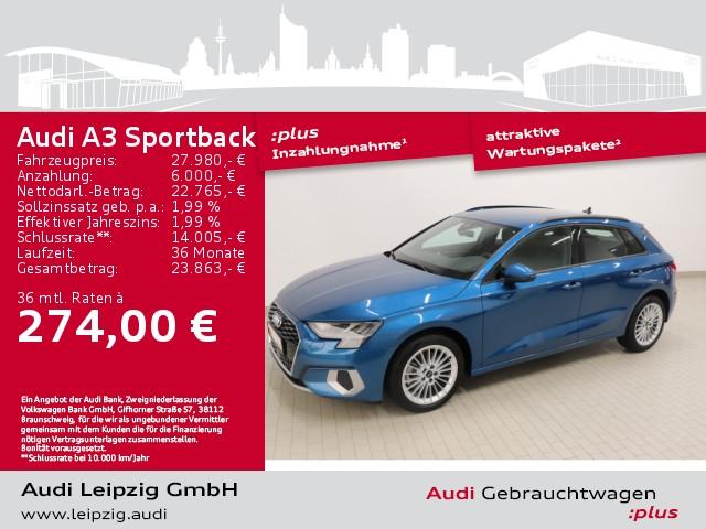 Audi A3 Sportback 30 TFSI advanced *pre sense front*, Jahr 2021, Benzin