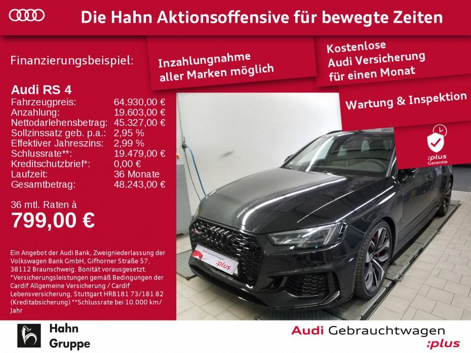 Audi RS 4 Avant 2.9TFSI q.TIP Matrix 280kmh Pano Navi, Jahr 2018, Benzin