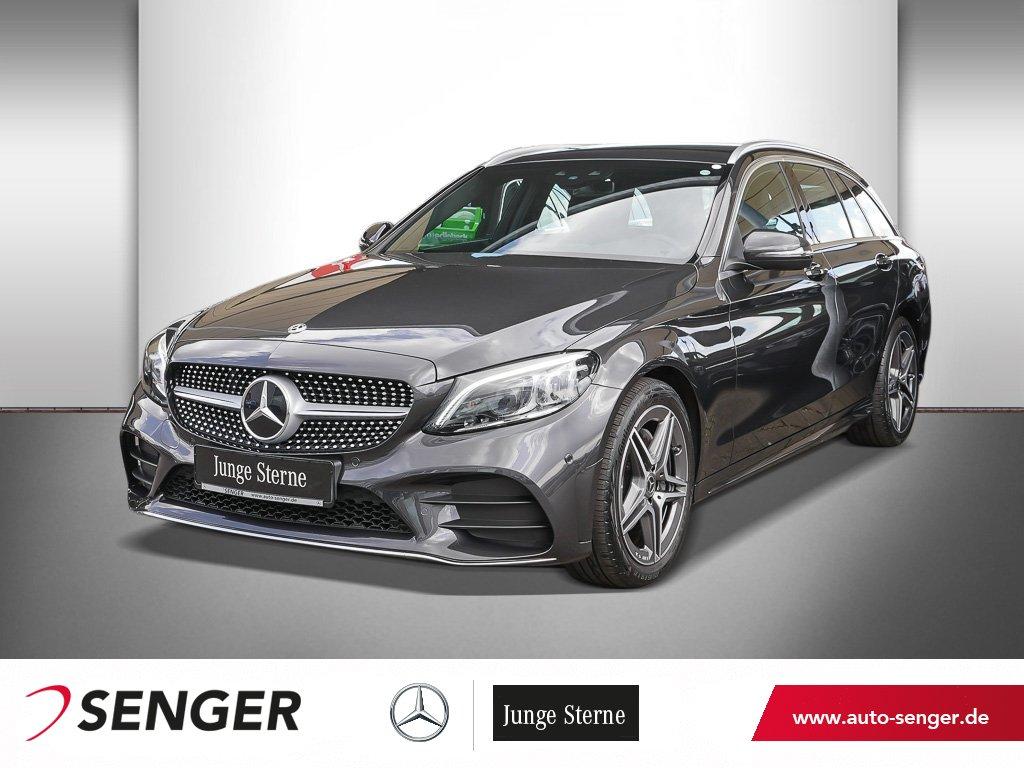 Mercedes-Benz C 180 T AMG-LINE+COMAND+KAMERA+SHZ+TEMPOMAT, Jahr 2020, Benzin