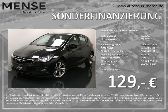 Opel Astra K 1.4 Turbo Dynamic Frontkamera GRA, Jahr 2017, Benzin