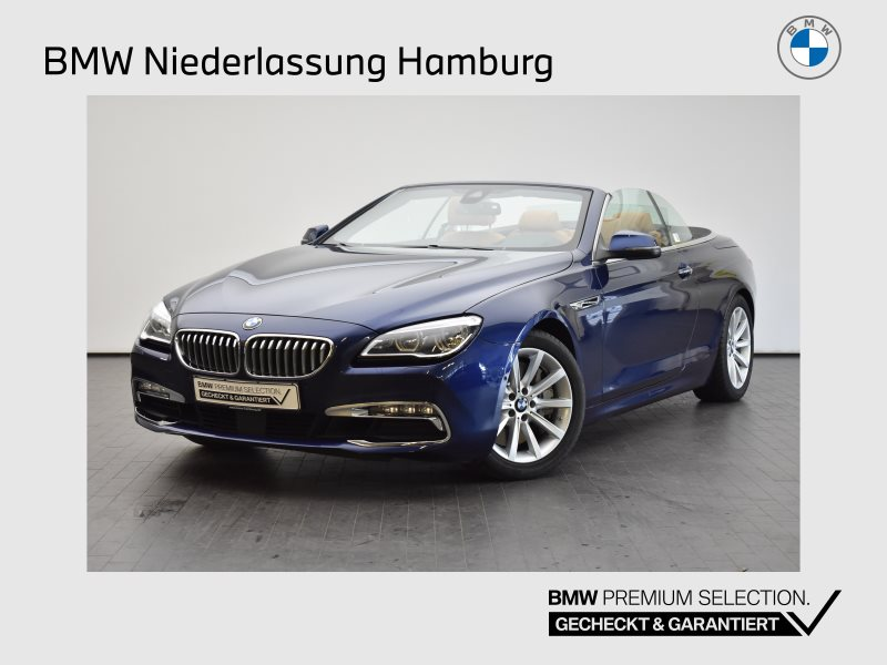 BMW 650i Cabrio Head-Up HiFi LED Spurwarng. RFK PDC, Jahr 2017, Benzin