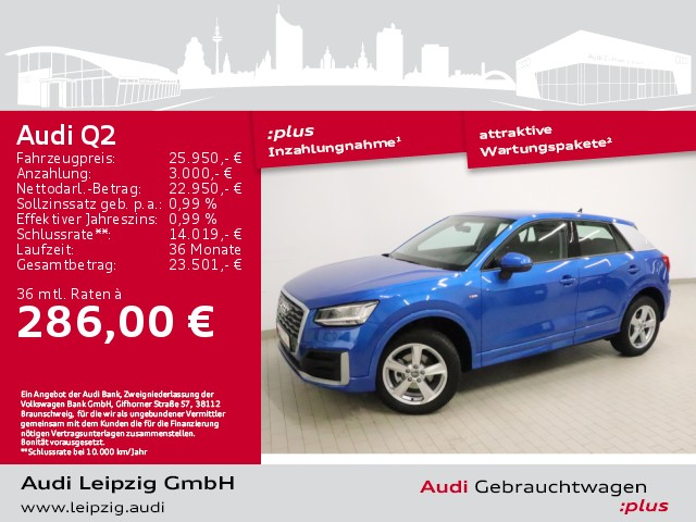 Audi Q2 30 TDI sport *S-line*LED*Navi*, Jahr 2019, Diesel
