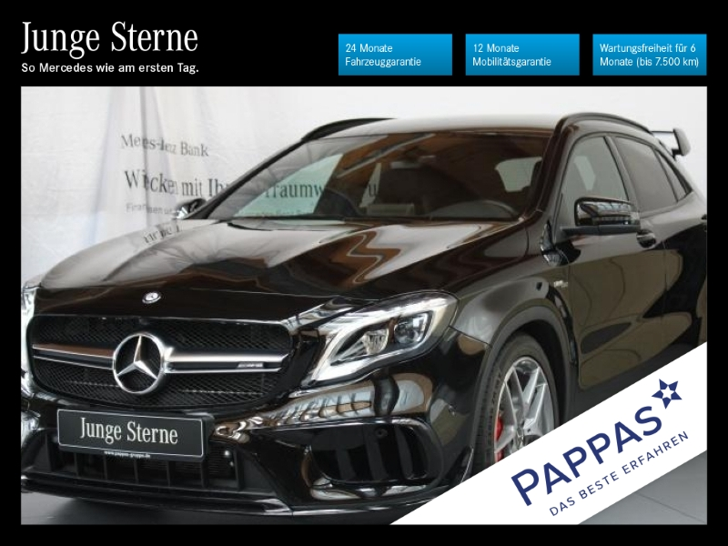 Mercedes-Benz GLA 45 AMG 4MATIC Night+LED+Navi+Klima, Jahr 2017, Benzin