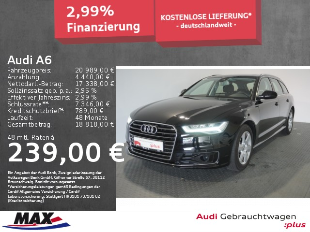 "Audi A6 Avant 1.8 TFSI LED+NAVI+PANO+AHK+ACC+ALU 17""+, Jahr 2016, petrol"