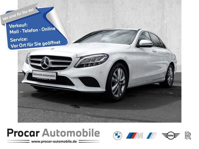 Mercedes-Benz C 180 Autom. Navi Leder LED Scheinwerfer Bluetooth PDC, Jahr 2019, Benzin