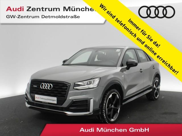 "Audi Q2 2.0 TFSI qu. Design S line Edition#1 #comfort B&O Pano AHK Virtual LED Navi 19"" S tronic, Jahr 2018, petrol"