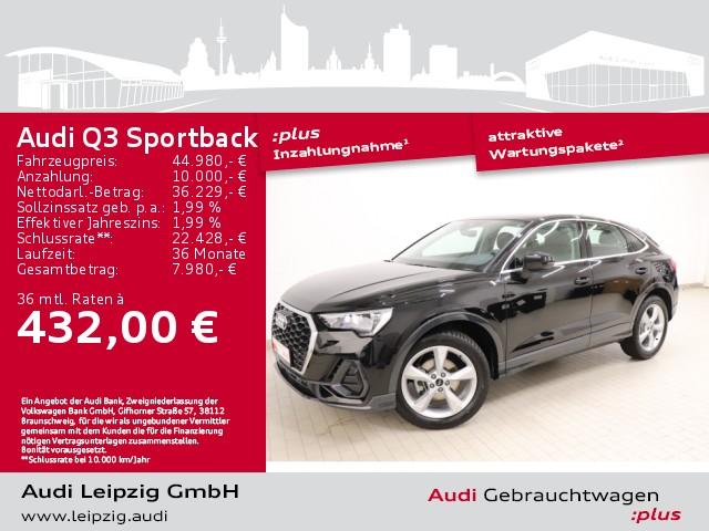 Audi Q3 Sportback 35 TDI *S tronic*pre sense front*, Jahr 2021, Diesel