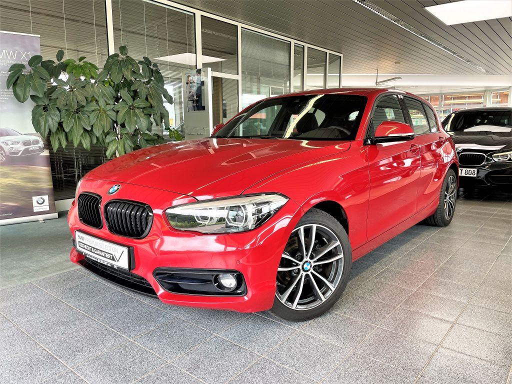 BMW 118i SPORT LINE NAVI+LED+17''+TEMP+SITZH+PDC V&H, Jahr 2018, Benzin
