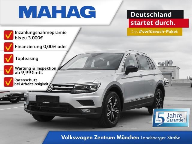 Volkswagen Tiguan 2.0 TSI DSG 4Motion IQ.Drive - NAVI / LED / Head-up-Display / Sitzheizung vorne / Fahrerassitenzpaket Plus/ 3-Zonen Klima Tiguan 2.0 CLOPF4M 140TSID7A, Jahr 2019, Benzin