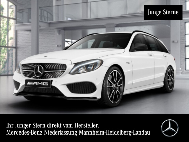 Mercedes-Benz C 43 AMG T 4M Night LED Navi PTS Sitzh Spiegelp., Jahr 2017, Benzin