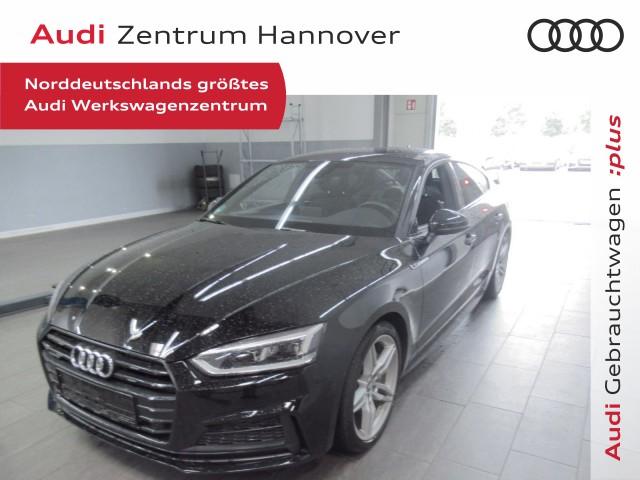 Audi A5 Sportback 2.0 TFSI Black Edition AHK LED 19-Zoll, Jahr 2018, Benzin
