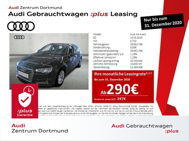 Audi A4 Avant sport 35TFSI Navi+/LED/AHK/DAB/VC, Jahr 2019, Benzin
