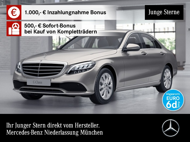 Mercedes-Benz C 180 Avantgarde Exclusive LED Kamera PTS Sitzh, Jahr 2019, Benzin