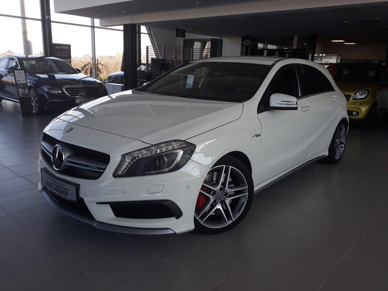 Mercedes-Benz A 45 AMG 4M KAMERA-KLIMAAUTO-SHZ-BIXENON-TEMPOM, Jahr 2015, petrol