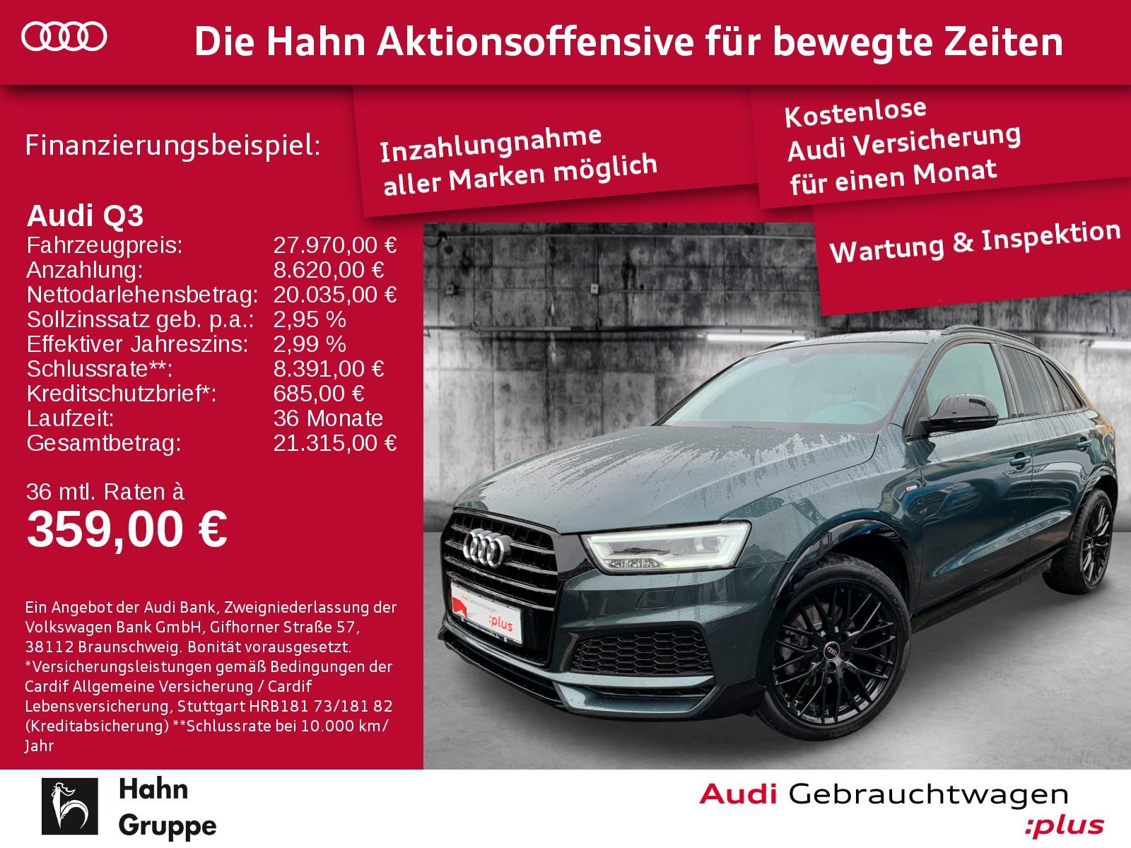 Audi Q3 2.0TDI qu. S-Trc S-line LED EinparkH BOSE Alcantara, Jahr 2017, Diesel