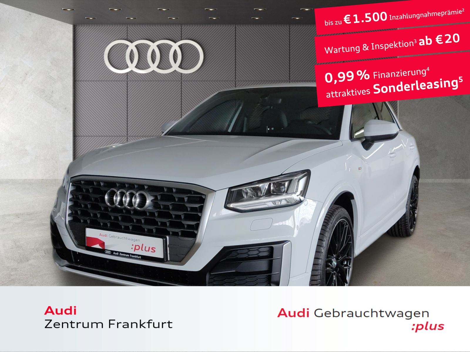 Audi Q2 30 TFSI S line Navi LED DAB Tempomat PDC, Jahr 2020, Benzin