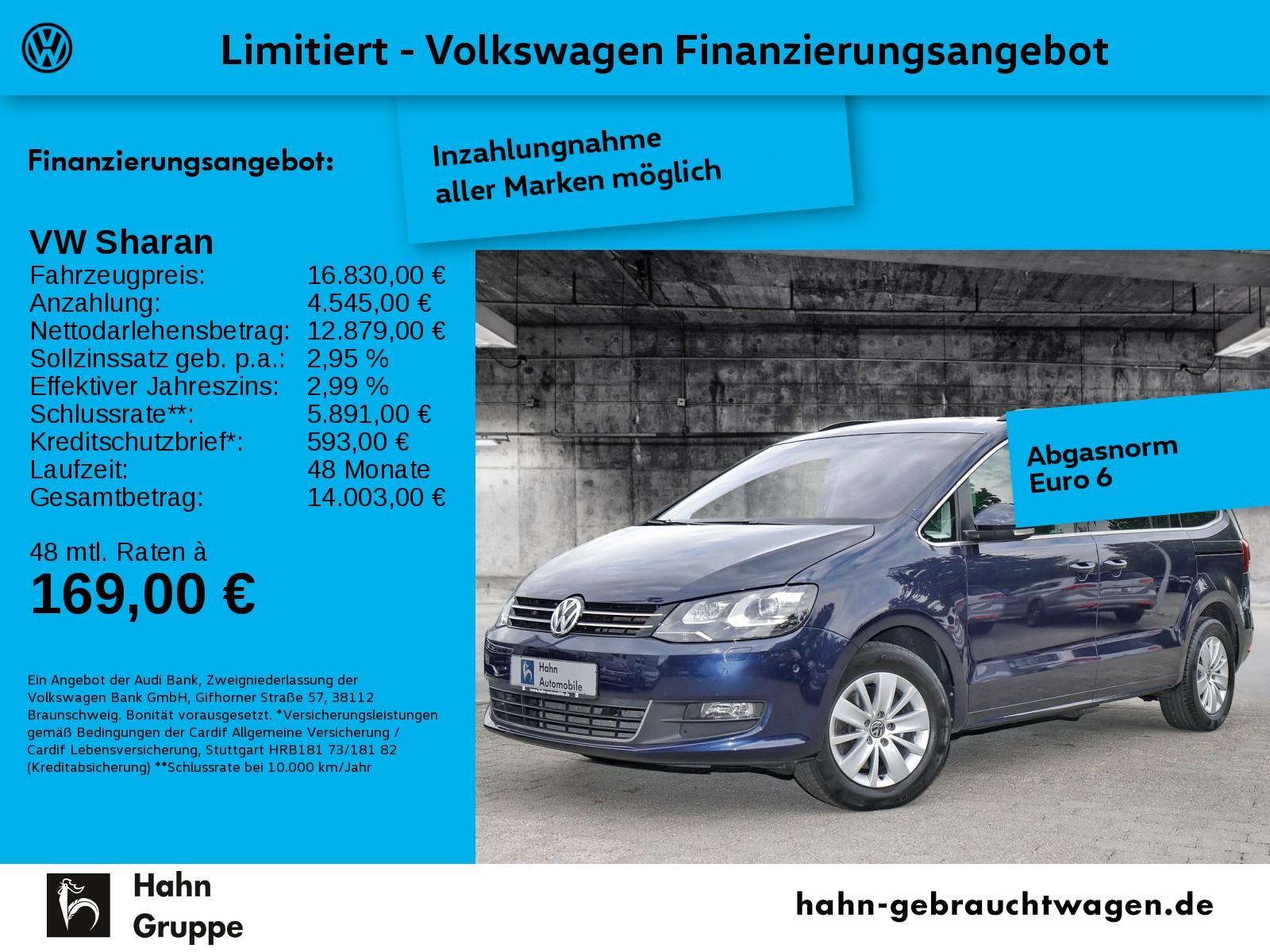 Volkswagen Sharan 2.0TDI AHK Navi Tempo Xen Climatr, Jahr 2016, Diesel