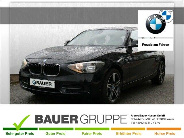 BMW 118 d Klima el. Fenster NR RDC Klimaautom CD ESP MAL DPF Sportsitze Seitenairb. BC Scheckheft, Jahr 2012, Diesel