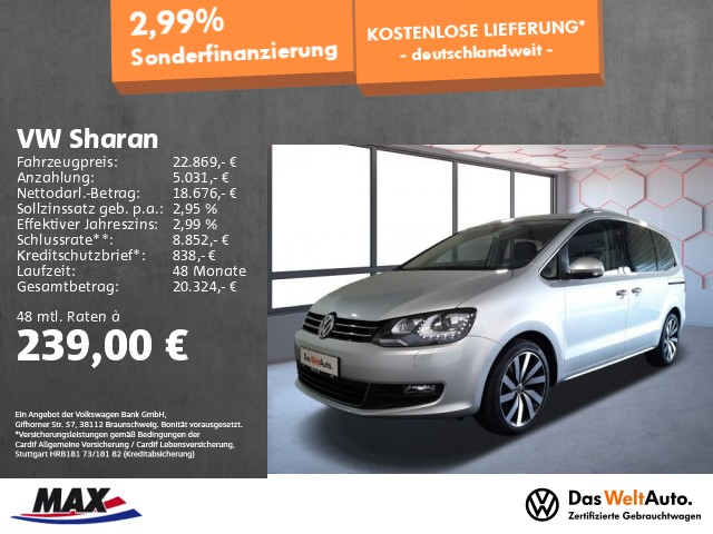 Volkswagen Sharan 2.0 TDI JOIN XENON+NAV+AHK+KAMERA+ALU+PDC, Jahr 2018, Diesel