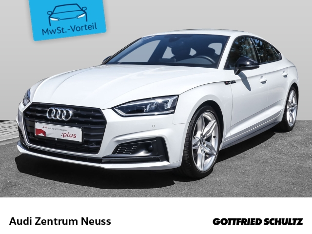 Audi A5 Sportback sport 40 TFSI, s-tronic S-line Navi ACC RFK Keyless 19Zoll AC Massage PDC, Jahr 2019, Benzin