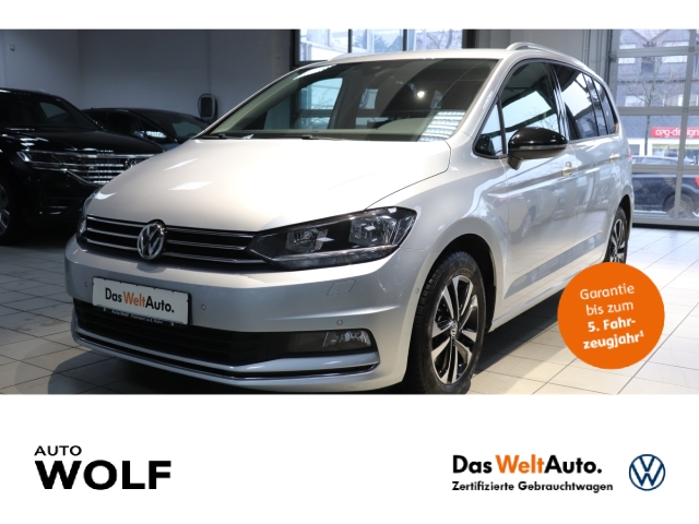 Volkswagen Touran IQ.DRIVE 1.5 TSI Start-Stopp EU6d-T Navi Kurvenlicht ACC Parklenkass. Fernlichtass., Jahr 2019, Benzin