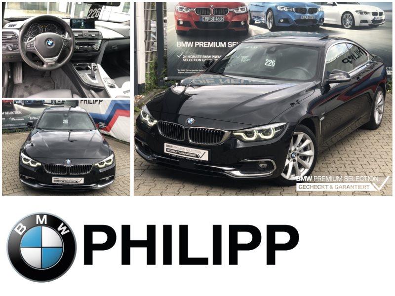 BMW 435d xDrive Coupé h&k AdapFahrw. AktivTempo Glasdach, Jahr 2017, Diesel