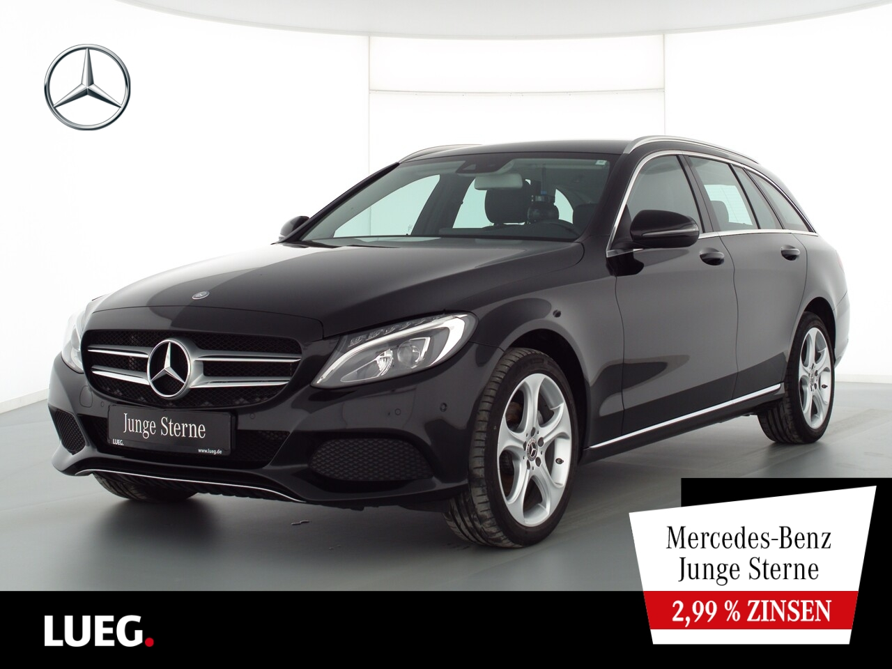 Mercedes-Benz C 200 T 4M Avantgarde+Navi+LED-HP+Sthzg+ParkAss+, Jahr 2017, Benzin