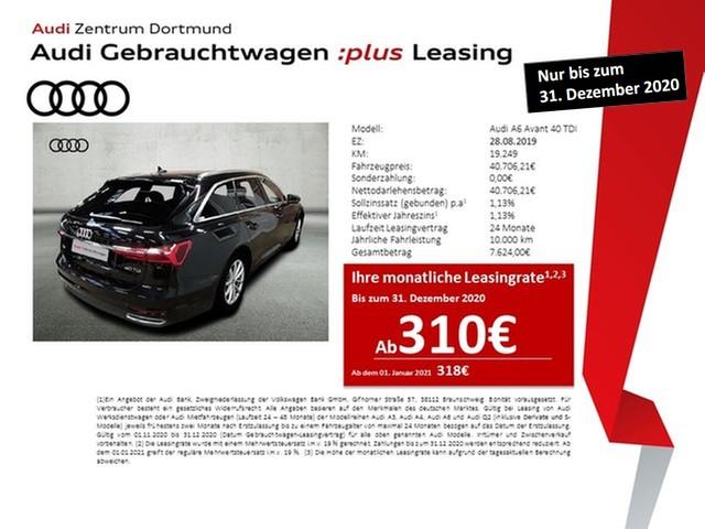 Audi A6 Avant 40TDI Navi+/Pano/AHK/KAM, Jahr 2019, Diesel