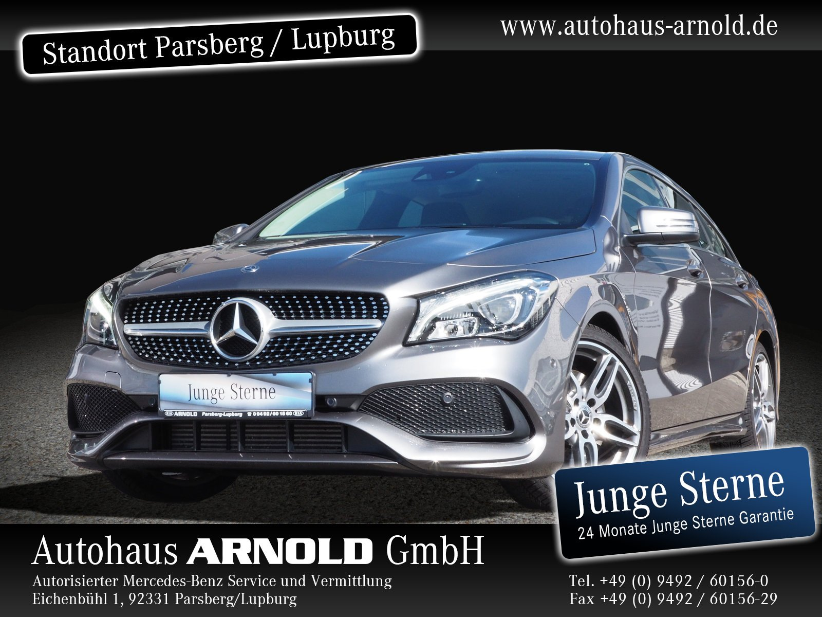Mercedes-Benz CLA Shooting Brake AMG Line LED AHK Navi SHZ BC, Jahr 2018, Benzin