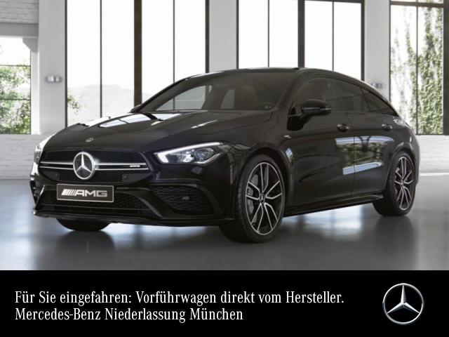 Mercedes-Benz CLA 35 AMG T SB 4M AMG Pano Burmester Navi Premium, Jahr 2019, petrol