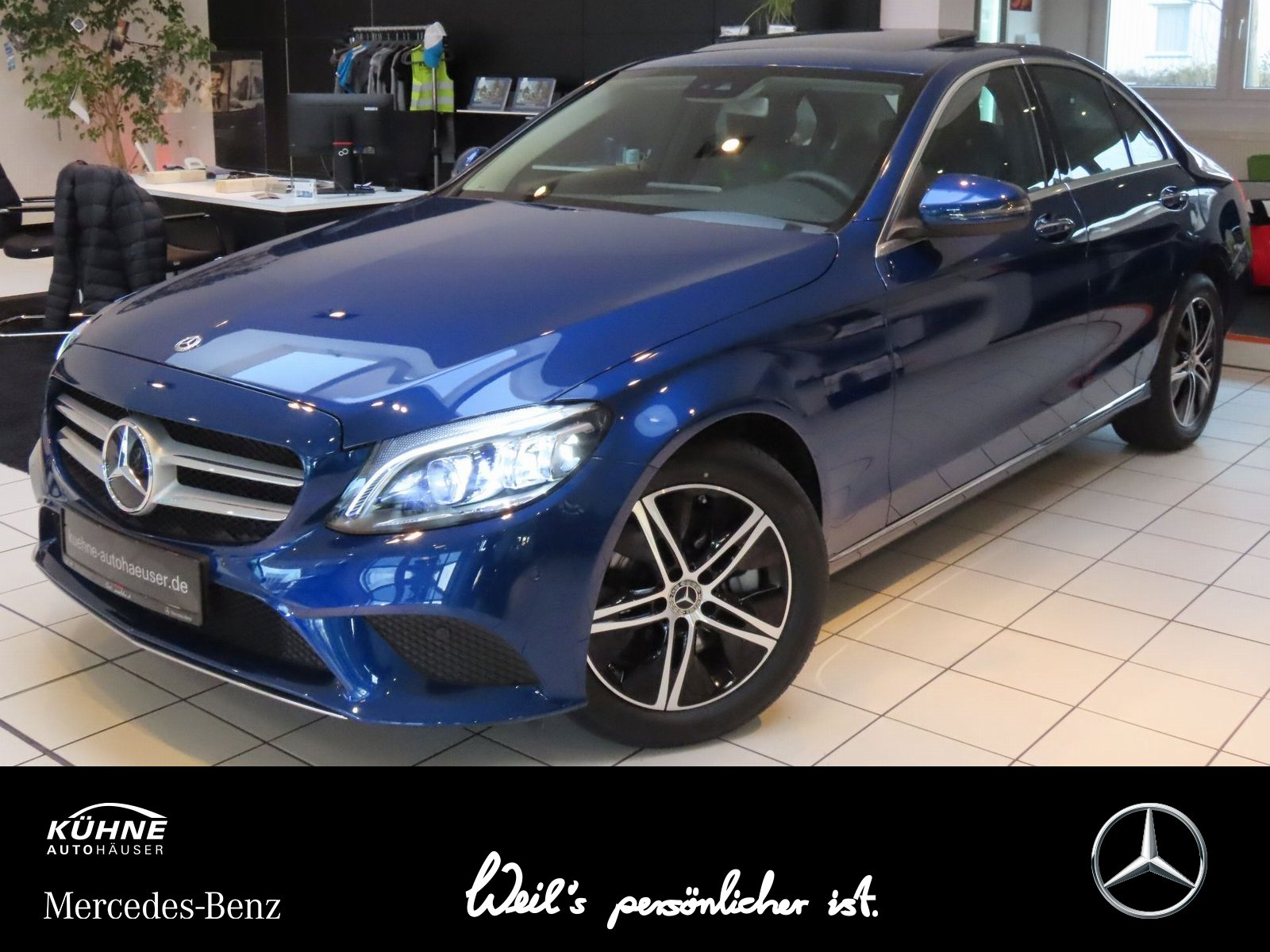 mercedes-benz c 300 avantgarde business keygo ambient high shd, jahr 2019, benzin