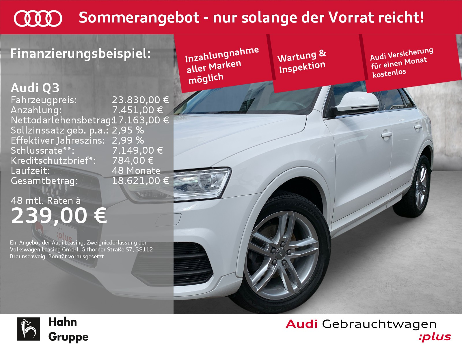 Audi Q3 2.0 TDI qua. Navi Xen CAM Sitzh Klima, Jahr 2016, Diesel