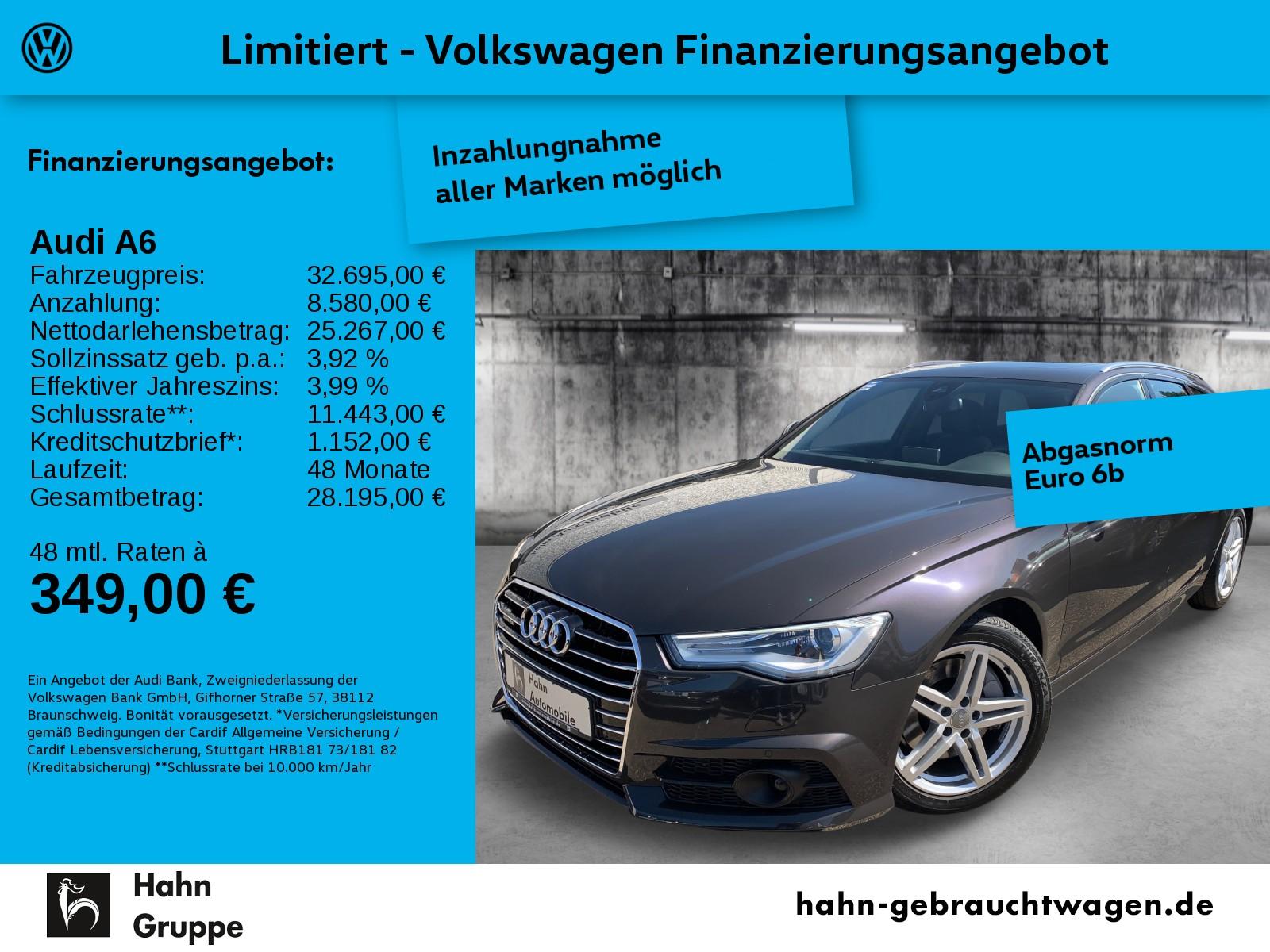Audi A6 Avant 3,0TDI qu Stronic Navi Pano Standhz AHK, Jahr 2017, Diesel