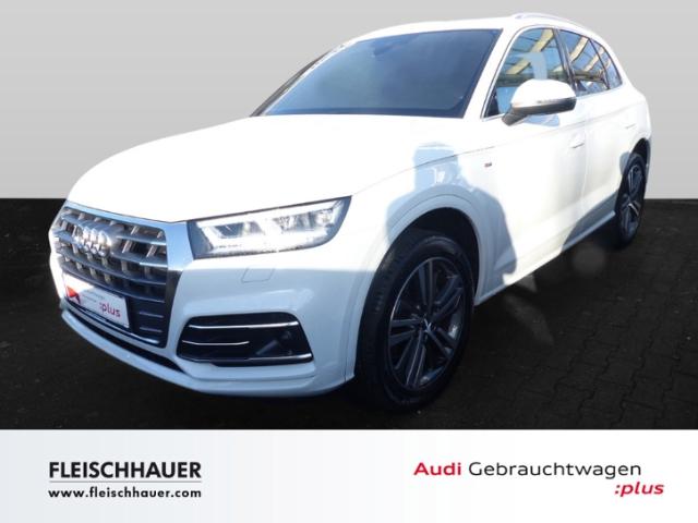 Audi Q5 45 TFSI qu. sport 3x S line+LED+AHK+VC+20''+Kamera+DAB+ACC, Jahr 2019, Benzin