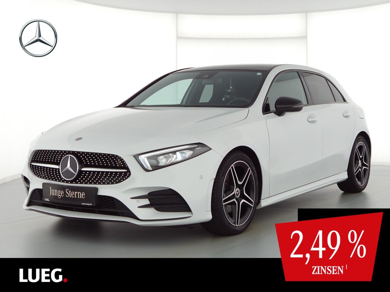 Mercedes-Benz A 200 AMG+MBUX+NavP+Pano+LED-HP+NightP+Sound+RFK, Jahr 2018, Benzin