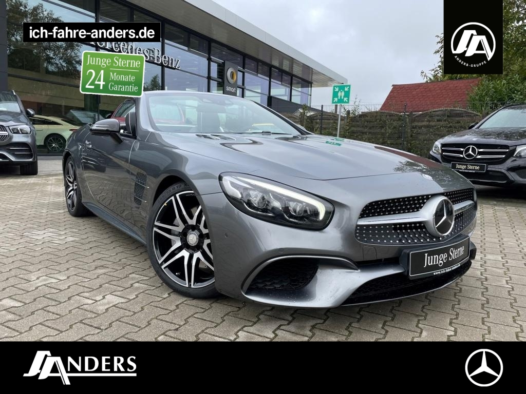 Mercedes-Benz SL 500 AMG+H&K+Sitzkl+Comand+Distr+Kam+Pano+Keyl, Jahr 2016, Benzin
