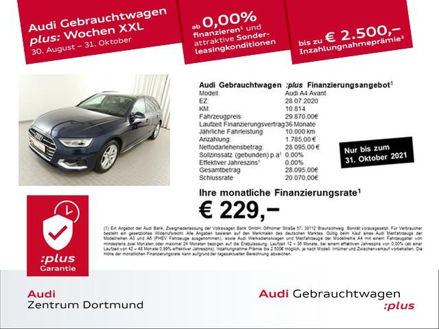 Audi A4 Avant 30 TDI advanced S-tronic/AHK/DAB/APS+, Jahr 2020, Diesel