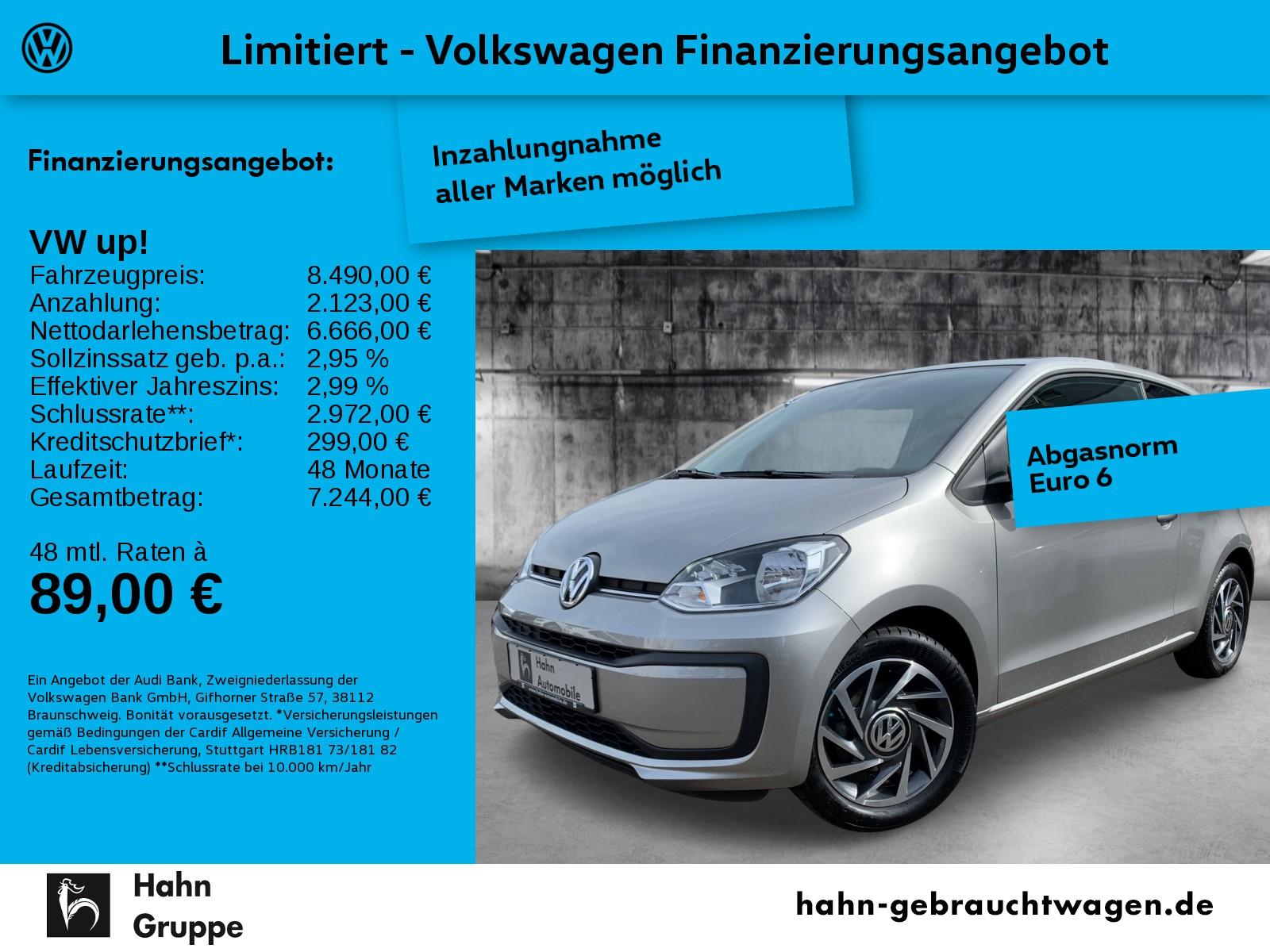 Volkswagen up! sound up! 1.0 Klima BT USB el. Fenster Bordc, Jahr 2018, Benzin