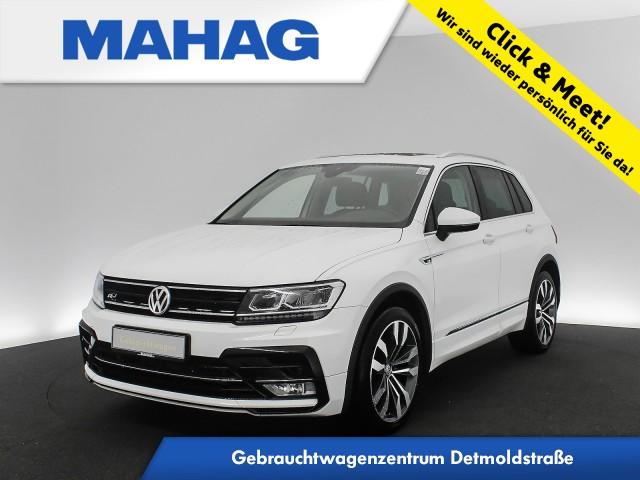 Volkswagen Tiguan 2.0 TSI 4mot. R line Ext. Highline Leder Navi LED AHK 6-Gang, Jahr 2017, Benzin