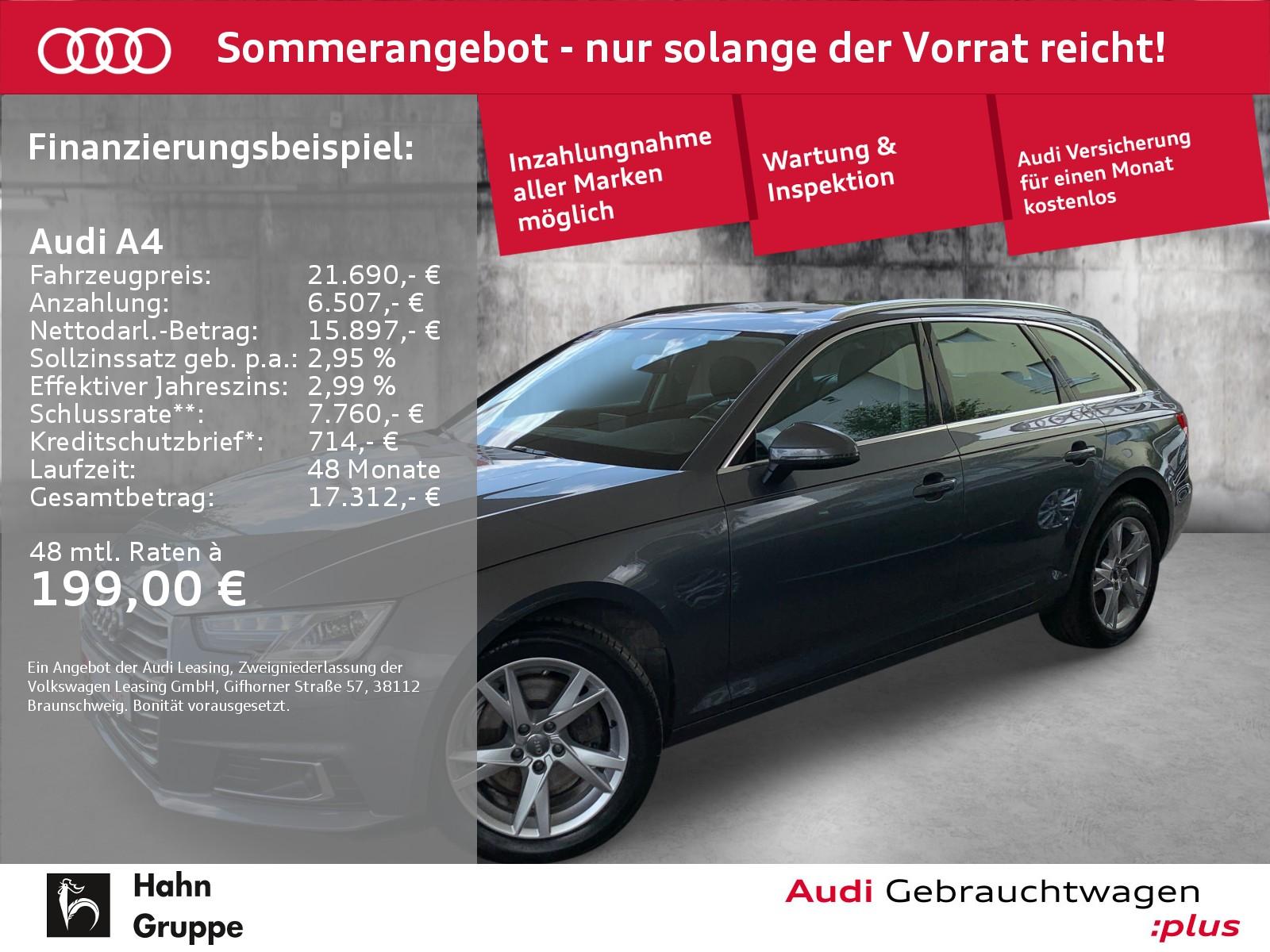 Audi A4 Avant 2.0 TDI S-trc Navi Xen ACC Pano Sitzh, Jahr 2017, Diesel