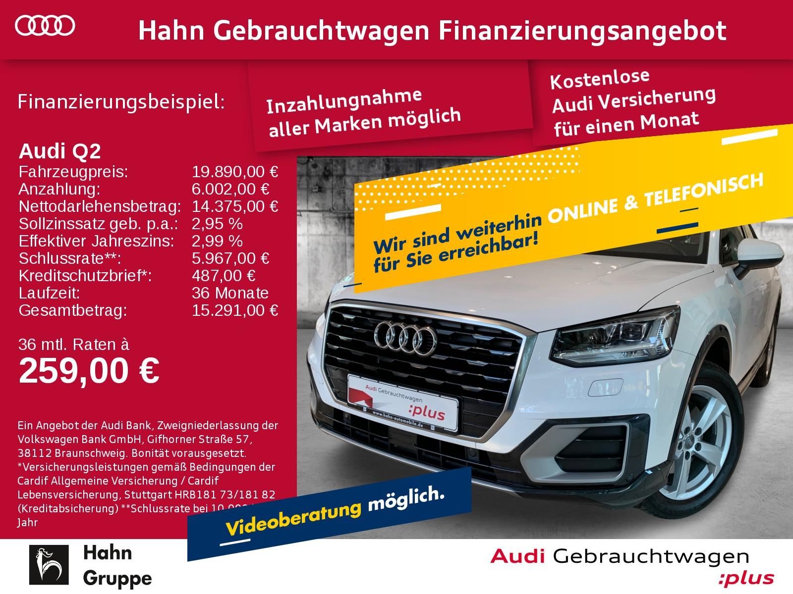 Audi Q2 Sport 1.4TFSI Navi LED Sitzh Einpark Klima, Jahr 2017, Benzin
