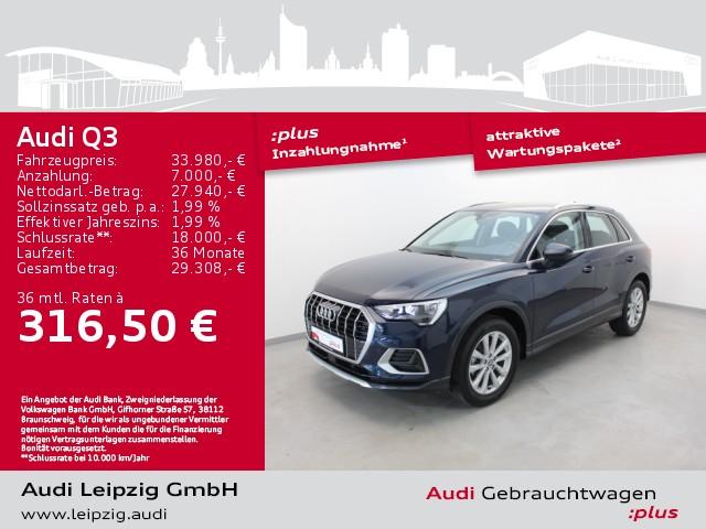 Audi Q3 35 TFSI advanced *AHK*Sitzhzg*Einparkhilfe*, Jahr 2020, Benzin