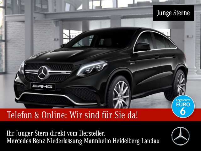 Mercedes-Benz GLE 63 4MATIC Coupé Sportpaket Bluetooth Navi LED, Jahr 2016, Benzin