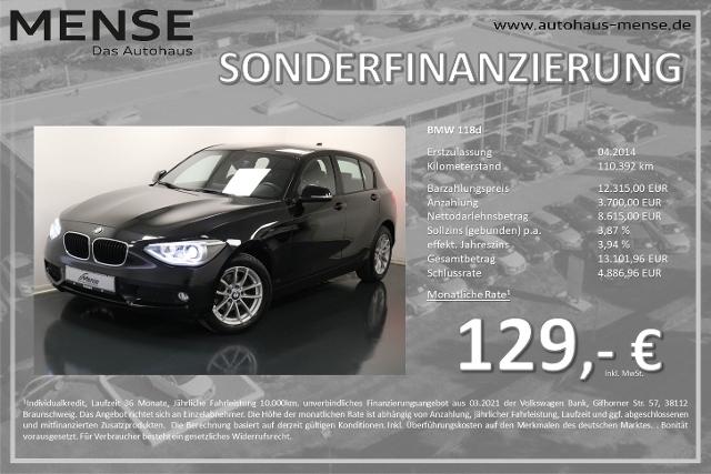BMW 118d Business CD, Jahr 2014, Diesel