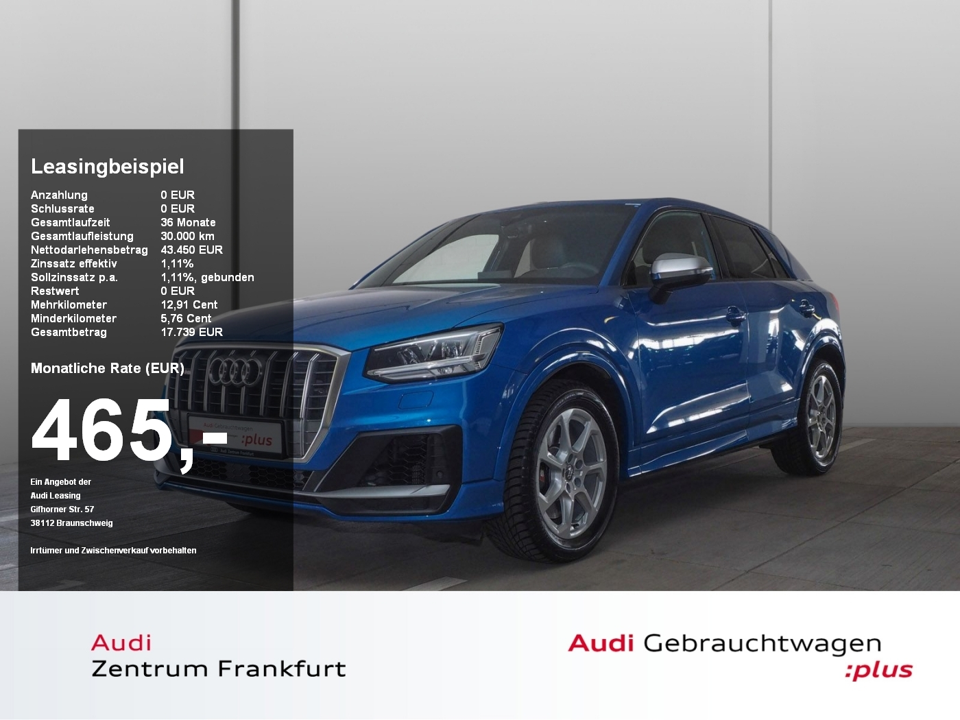 Audi SQ2 TFSI S tronic Navi AHK VirtualCockpit B&O LE, Jahr 2019, Benzin