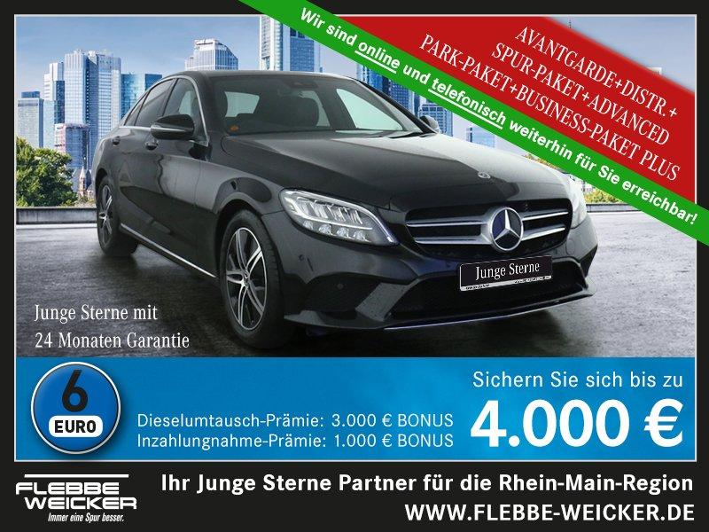 Mercedes-Benz C 220 d AVANTGARDE+DISTRONIC+SPUR-PAKET+RÜ.-KAM., Jahr 2020, Diesel