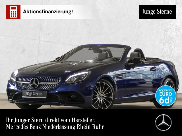 Mercedes-Benz SLC 200 AMG Night Pano ILS Navi Harman Airscarf, Jahr 2018, petrol